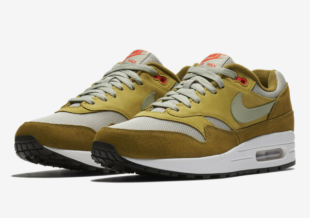 Nike Air Max 1 Premium Retro 908366 300 Green Curry Olive Spruce DS Size 11