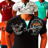 Herren T-Shirt Shirt Top Qualität Polo Party Trend Club Clubwear M L XL XXL NEU