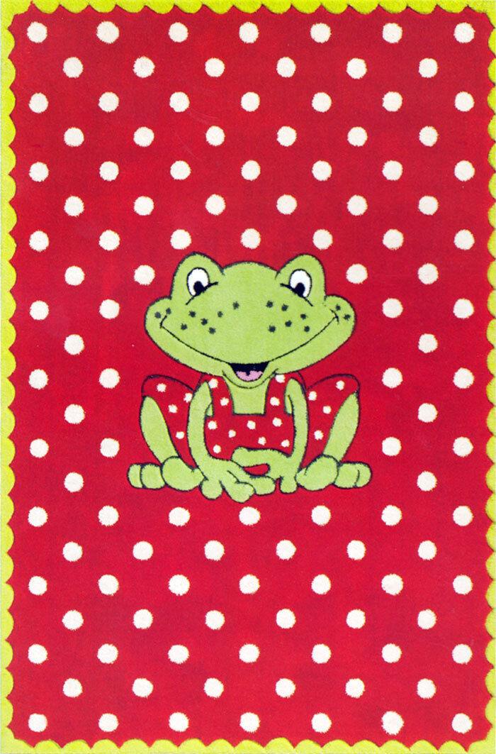 Enfants Jeu Tapis Frosch Rouge 140 X 70 Cm