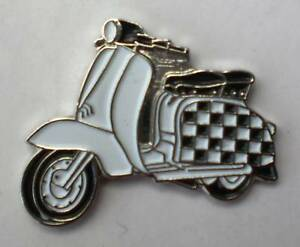 TOP RANKING TWO TONE SKA SCOOTER  Enamel Pin Badge Mod Scooter