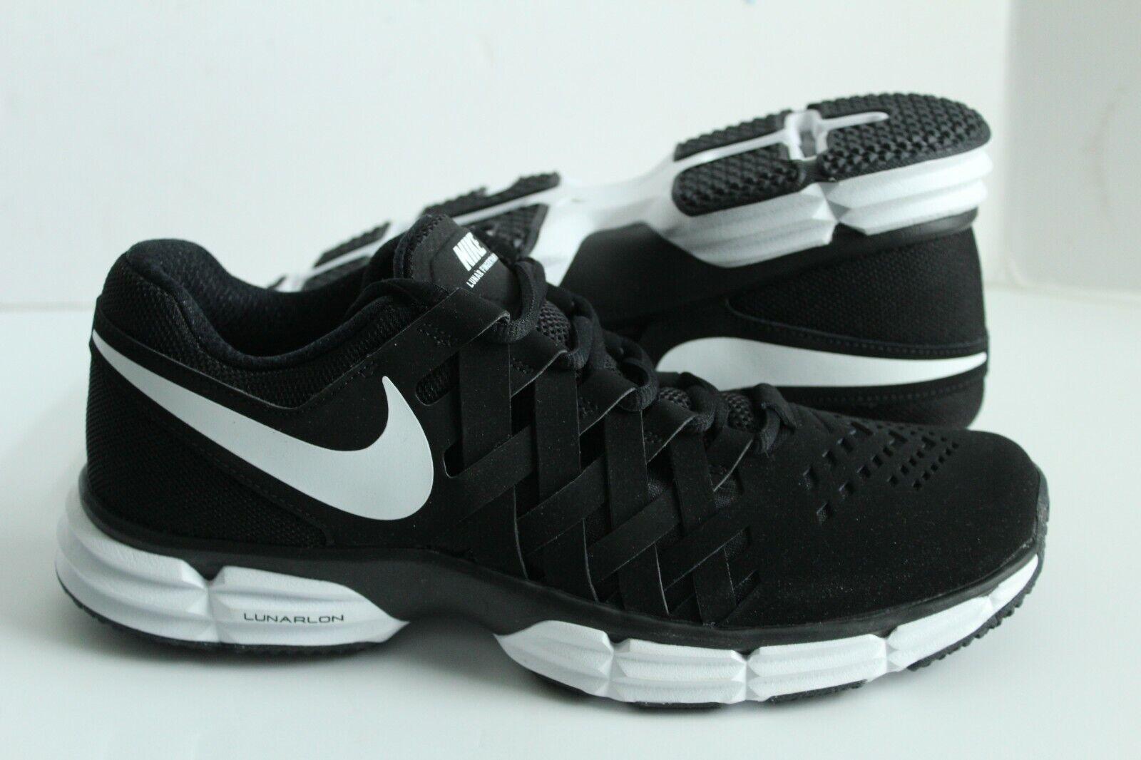 Homme Nike Lunar Fingertrap TR Chaussures De Sport Noir Blanc 898066-001
