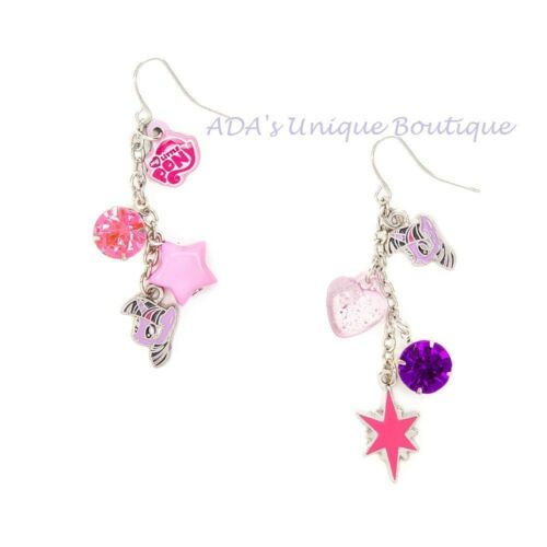 My Little Pony Twilight Sparkle Earrings Charms Mismatched Drop Purple Hasbro