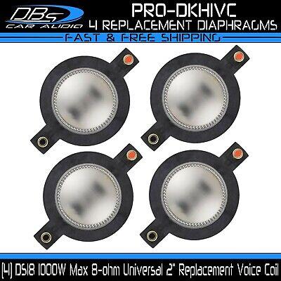 DS18 PRO-DKH1VC /& PRO-D1VC  1000W Max 8 ohm Replacement Diaphragm for PRO-DKH1