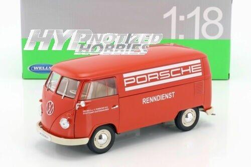 WELLY WELLY WELLY 1 18   1963 VOLKSWAGEN T1 BUS  PORSCHE  DIE-CAST RED 18053 f9676f