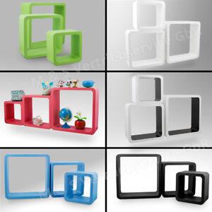 3-teilig-Wandregal-Kinder-Wuerfel-Cube-Retro-Vintage-Wandboard-Haengeregal-Regal