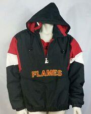 Calgary Flames Vintage Starter Jacket NHL Pullover Rare Coat Hockey Mens XL