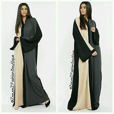 "Dubai Open Abaya Kimono Maxi Dress Bold modest new Style Long Over Coat Wrap 54"""
