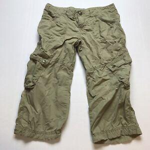 Victorias Secret London Jean Tan Cropped Pants Size 6 A710