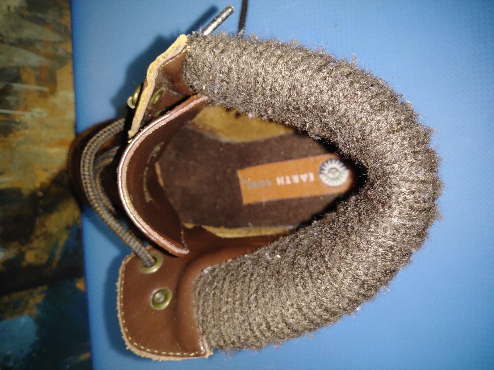Earth  Distressed Braun Leder Stiefel Stiefel Leder Sz 7 28a019