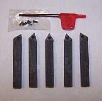 Sherline Craftsman Atlas 1/4 5 Pc Indexable Carbide Insert Tool Bit