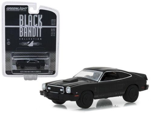 1976 Ford Mustang II Cobra II *** GreenLight Black Bandit 1:64 OVP