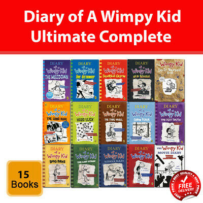 Diary Of A Wimpy Kid Collection Jeff Kinney 15 Books Set Meltdown Getaway New 9789123756568 Ebay