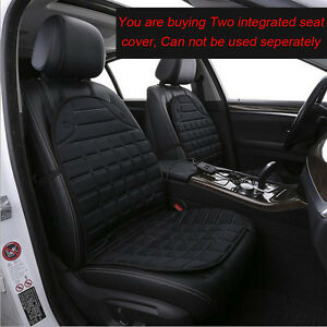 Image Is Loading Pair 12V Heated Car Seat Cover Set Thermal