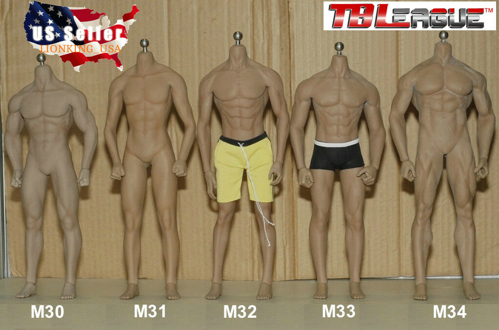 TBLeague 1/6 Steel Skeleton Male Muscular Seamless Body M30 M31 M32 M33 M34 M35