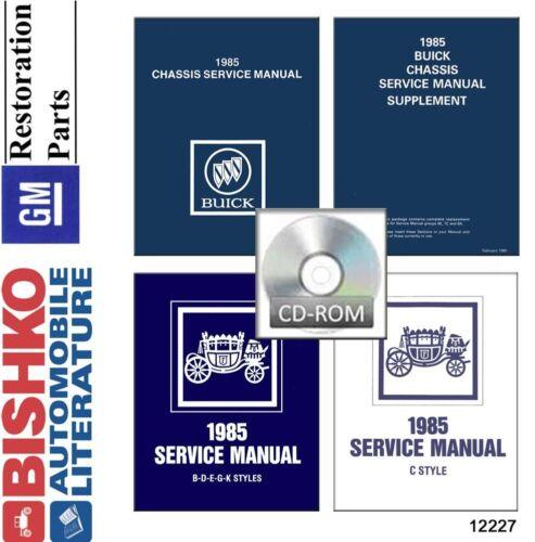 w// Supplement II 1985 Buick Shop Service Repair Manual CD Engine Drivetrain