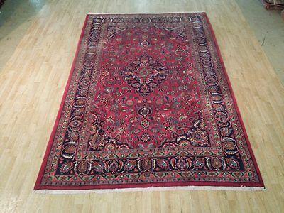 Vivid Red-Blue SOFT & dense pile Handmade 7x10 Rug Persian Traditional Rug