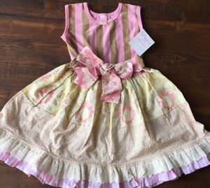 Girls pink floral lace dress NWT BOUTIQUE 4T spring easter wedding