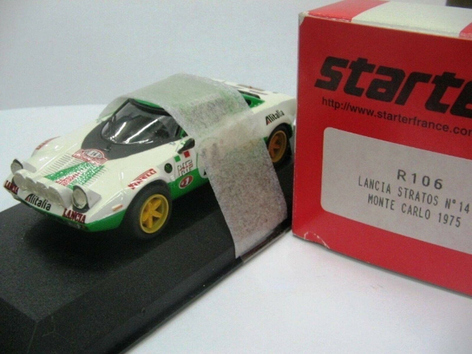 WOW EXTREMELY RARE Lancia Stratos WRC Winner M.Carlo 1975 1 43 Starter-HPI