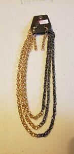 Paparazzi-Short-Necklace-amp-Earring-set-new-METRO-MADNESS-GOLD-SET-6048