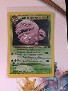 Dark-Weezing-Holo-NM-Rocket-14-82-Rare-Pokemon-English