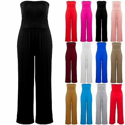 Womens Ladies Sleeveles Baggy Plain Lagenlook Parachute Romper Dress 8-24