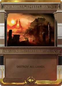 Armageddon-PREMIUM-FOIL-Amonkhet-Invocations-Magic-mtg-Armaguedon