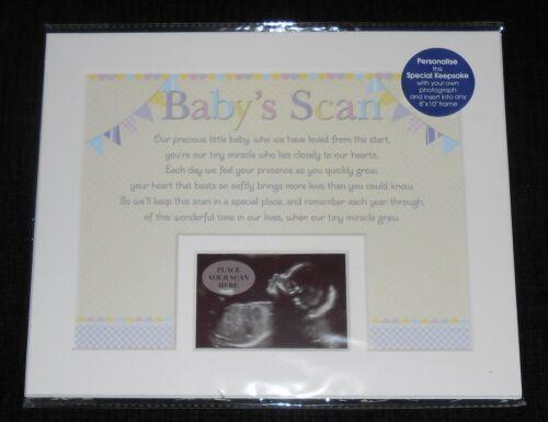 BABY SHOWER KEEPSAKE PHOTO FRAME MOUNT GIFT PHOTOGRAPH MEMENTO BABY/'S SCAN