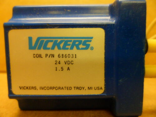 VICKERS 686031 COIL 24 VDC 1.5AMP NOS