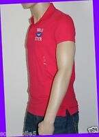 Hollister California Men's Large L Solid Hot Pink Polo Shirt W/ Buttons