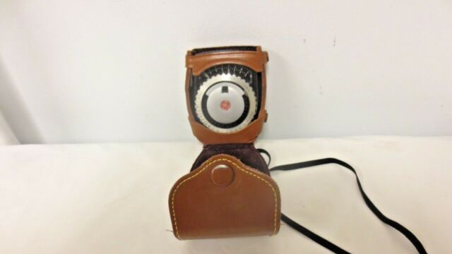 Older G E Diamond Exposure Meter Type PR-1;Film or Plate-USA patent-Leather Case