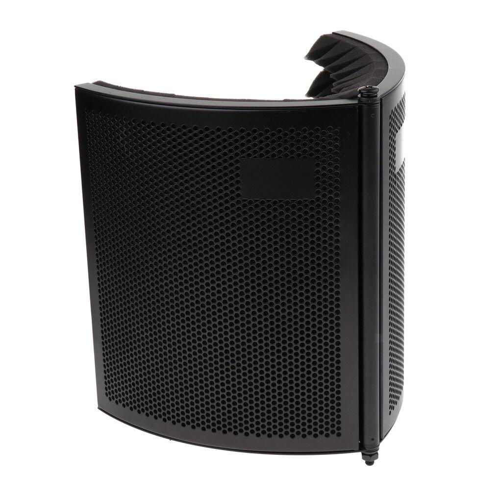 Escudo Escudo Escudo de aislamiento de micrófono plegable Estudio de grabación ajustable  opciones a bajo precio