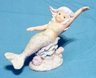 1993 Enesco Coral Kingdom Crystal Bisque Porcelain Mermaid Figurine 533076 Ebay