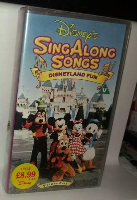 Sing Along Songs Disneyland Fun Vhs Sh Ebay