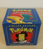 Brand Pokemon Go Metallic Pokeball Gold 23k Charizard Sealed