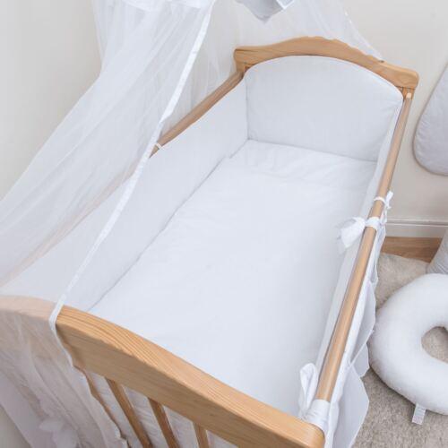 3-teiliges Baby Bettwäsche Set 120x60//140x70 cm 4-seitig Kinderbett Schutz
