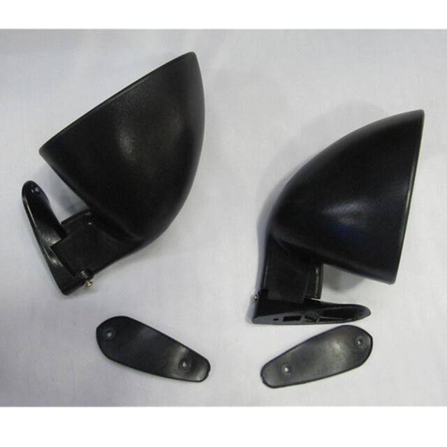 2x Vintage Oldtimer Classic Car Door Side Mirrors Black Abs Universal W Fitting For Sale Online Ebay