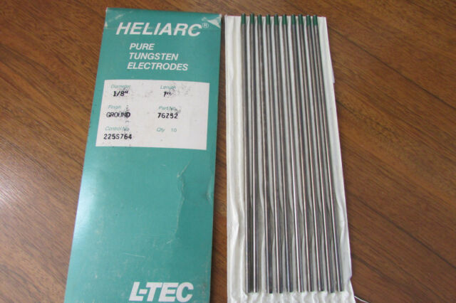 1//8 in Dia 7 in Long 2/% Ceria Ground Tungsten Electrodes