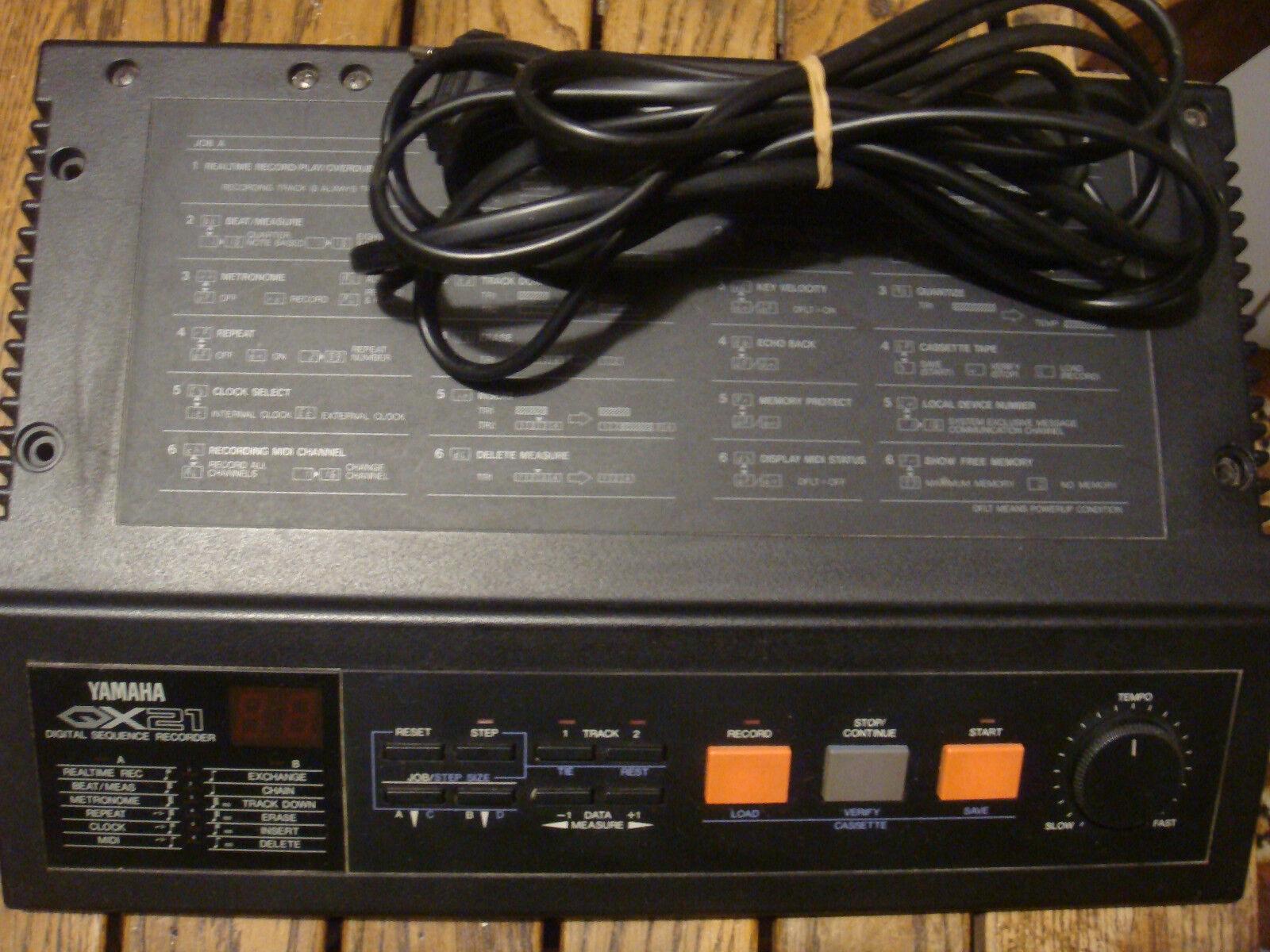 Yamaha QX21 Digital Sequence Recorder Vintage MIDI Rekorder Sequencer Aufnahme