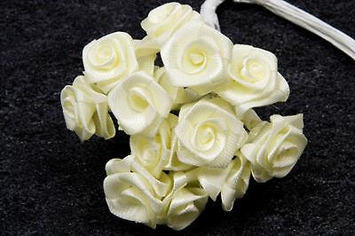 Décoration de mariage 72 petites roses bleu roy