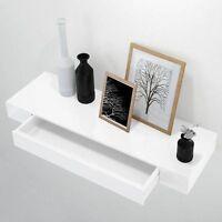 Wandregal Schublade Wandschrank Wandkonsole Wandboard Schubladenkonsole Weiß