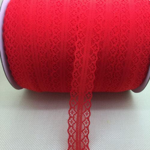 Wholesale~10 Yards Bilateral Handicrafts Embroidered Net Lace Trim Ribbon #UK01