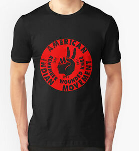 AMERICAN-INDIAN-MOVEMENT-T-SHIRT-TOP-NATIVE-AMERICANS-AMERICA-TRIBE-TRIBAL