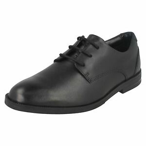 Clarks Up Old Bootleg Rufus Bl School Shoes Black Boys Leather Edge Lace zzrqgfF