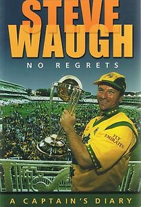 Steve-Waugh-No-Regrets-a-Captain-039-s-Diary-by-Steve-Waugh-Paperback-1999