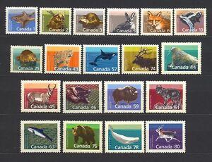 CANADA 1988-1993 #1155 etc, complete set of 19 Animals, Wildlife Mint NH