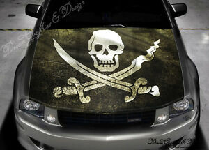 Pirates Flag Full Color Graphics Adhesive Vinyl Sticker Fit Any - Car vinyl decalsabstract full color graphics adhesive vinyl sticker fit any car
