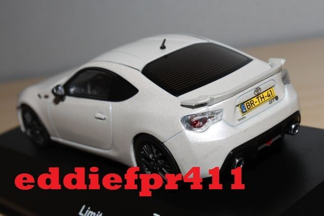 1 43 2012 2012 2012 TOYOTA 86 GT LIMITED COUPE IN SATIN blanco PEARL TRIPLE 9 500 MADE ONLY b30267