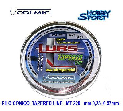 FILO COLMIC TAPERED CONICO LURS MT 220  DIAMETRO 0,18-0,37 SURFCASTING