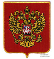 Russia Coat Arms Embroidered Patch Iron-on Russian Eagle Crest Applique Россия