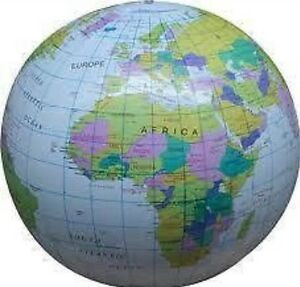 Inflatable globe 40 cm atlas world map earth beach ball uk seller image is loading inflatable globe 40 cm atlas world map earth gumiabroncs Image collections